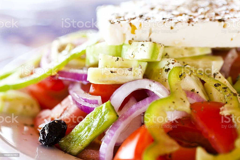 Greek salad, close-up stock photo