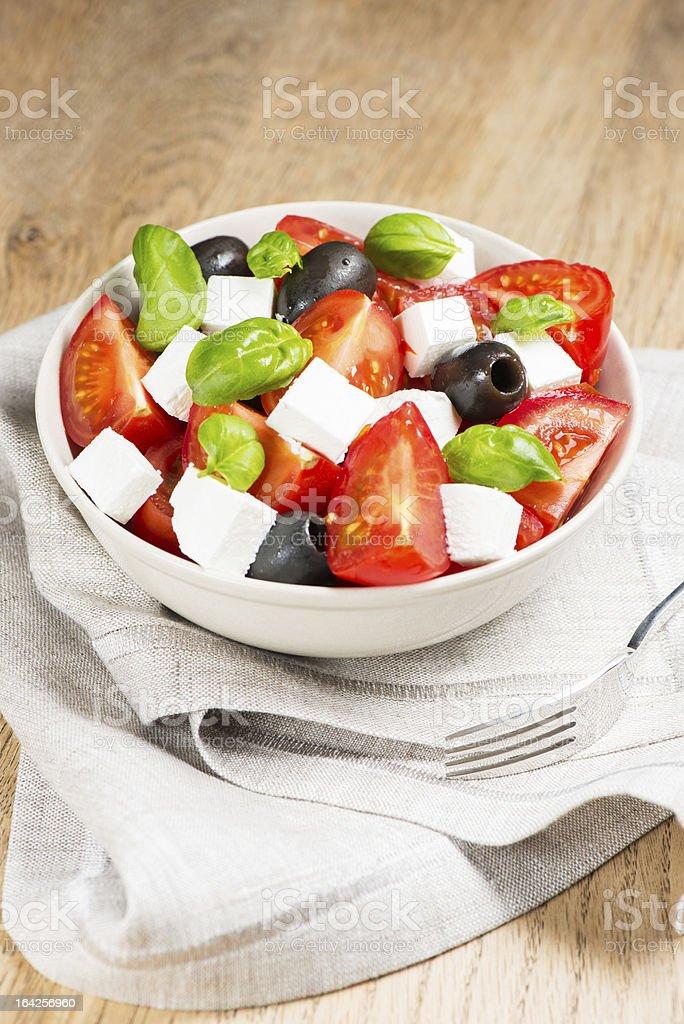 Greek salad in bowl royalty-free stock photo