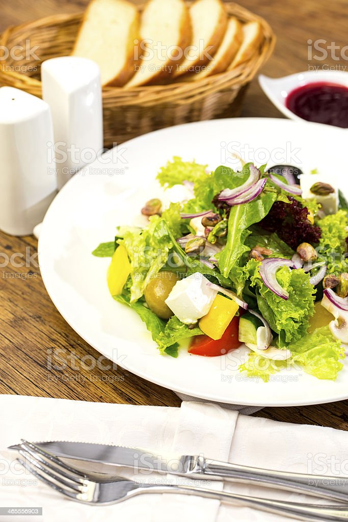 Greek salad with vegetables and cheese royalty-free stock photo