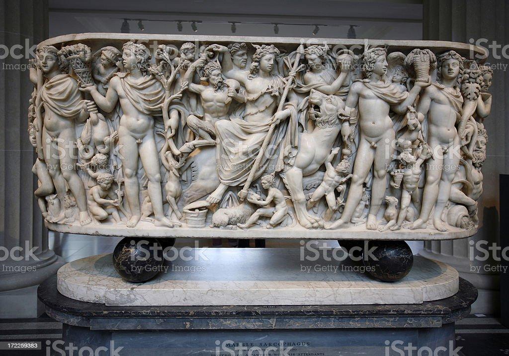 Greek sarcaphogus stock photo