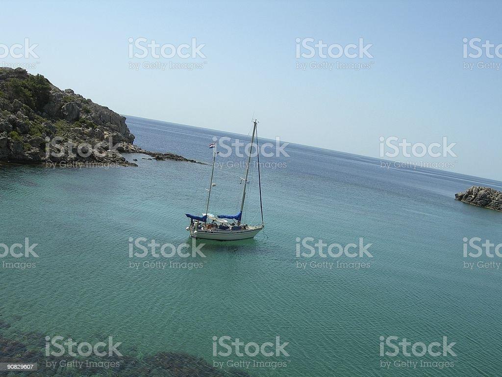 Greek Sea 01 royalty-free stock photo
