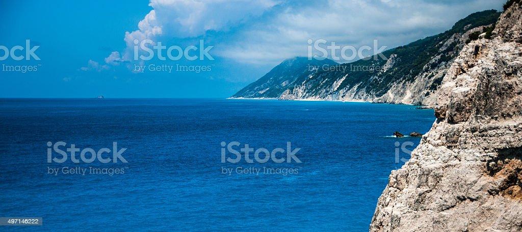 Paysage marin grec photo libre de droits