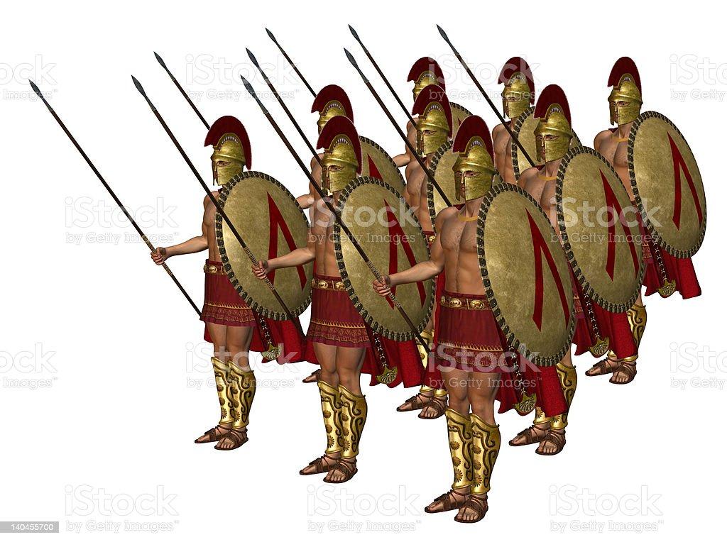 Greek Spartan Soldiers stock photo
