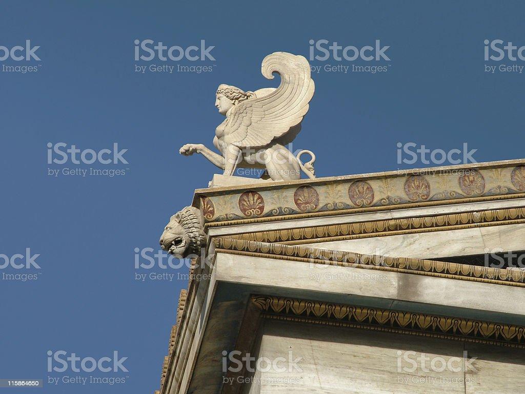 Greek Sphinx stock photo