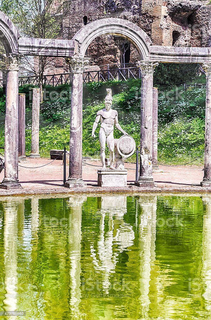 Greek Statue of Ares, inside Villa Adriana (Hadrian's Villa), Ti stock photo