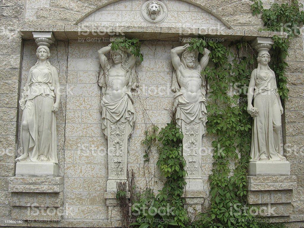 Greek Statues stock photo