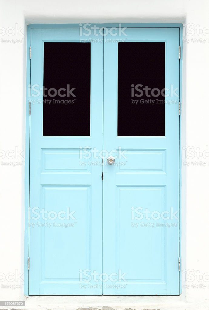 Greek Style door royalty-free stock photo
