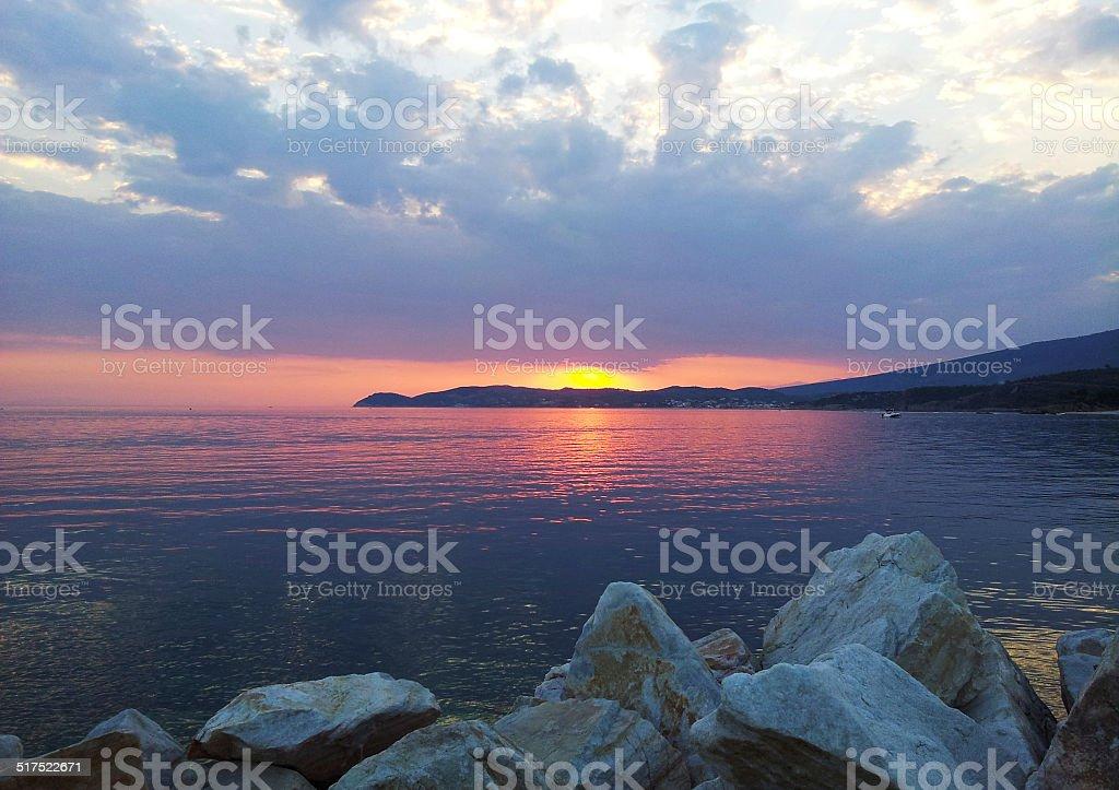 Greek Sunset royalty-free stock photo