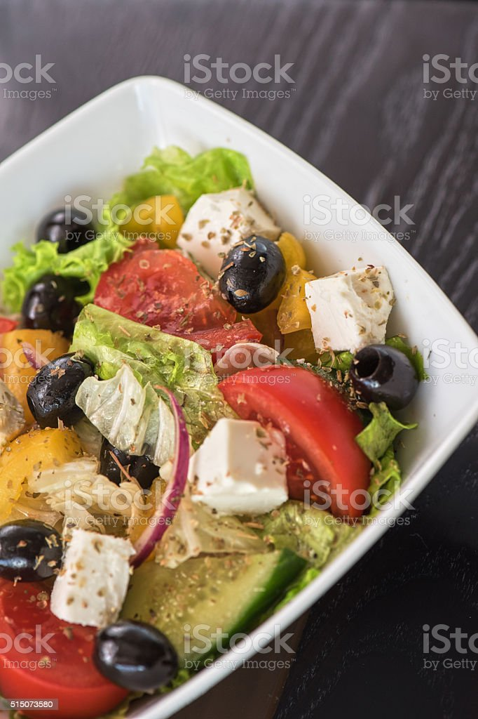 Greek tasty salad stock photo