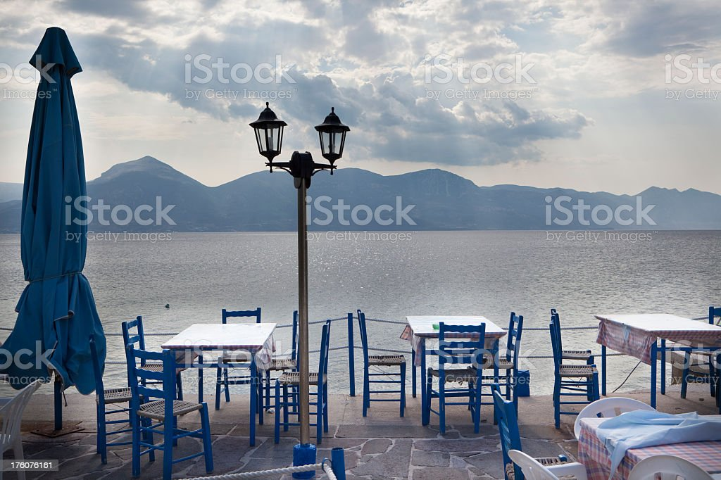 Greek Taverna (XXXL) royalty-free stock photo