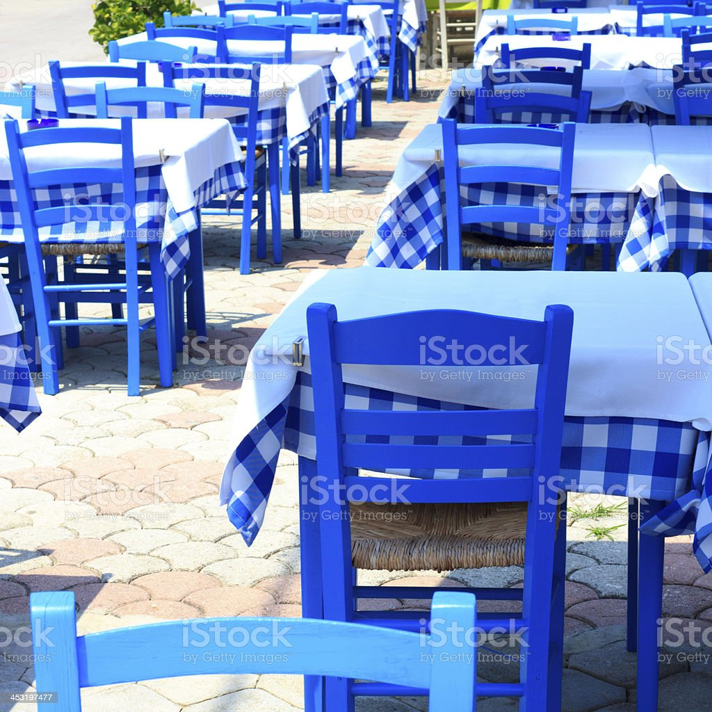 greek taverna royalty-free stock photo