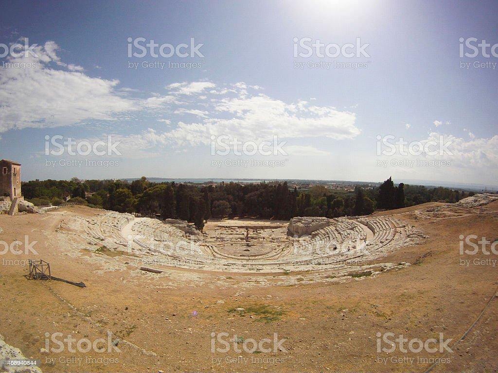 greek teathre stock photo