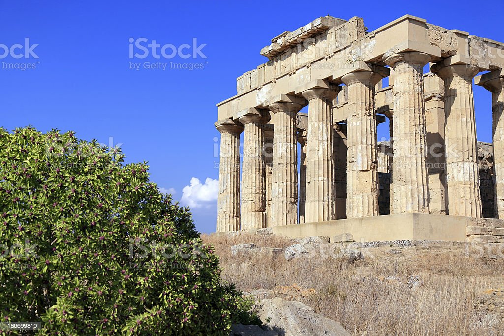 Greek temple at Selinunte royalty-free stock photo