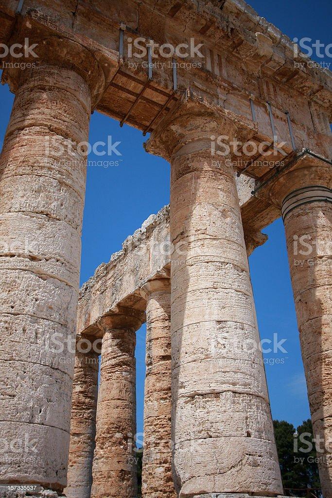 Greek temple columns royalty-free stock photo