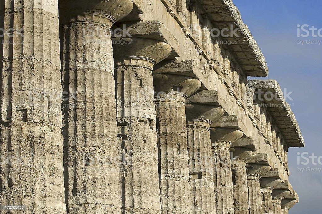 Greek temple columns stock photo