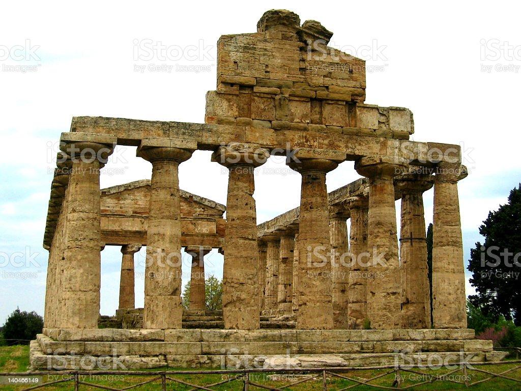 Greek temple in Paestum, Italy stock photo