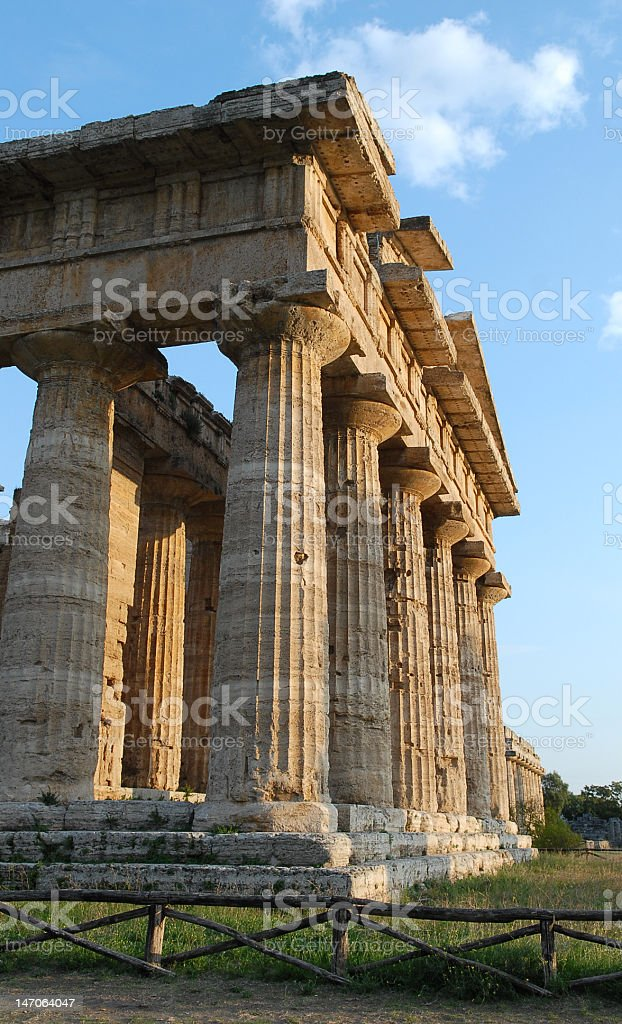 Greek Temple in the Doric Order royalty-free stock photo