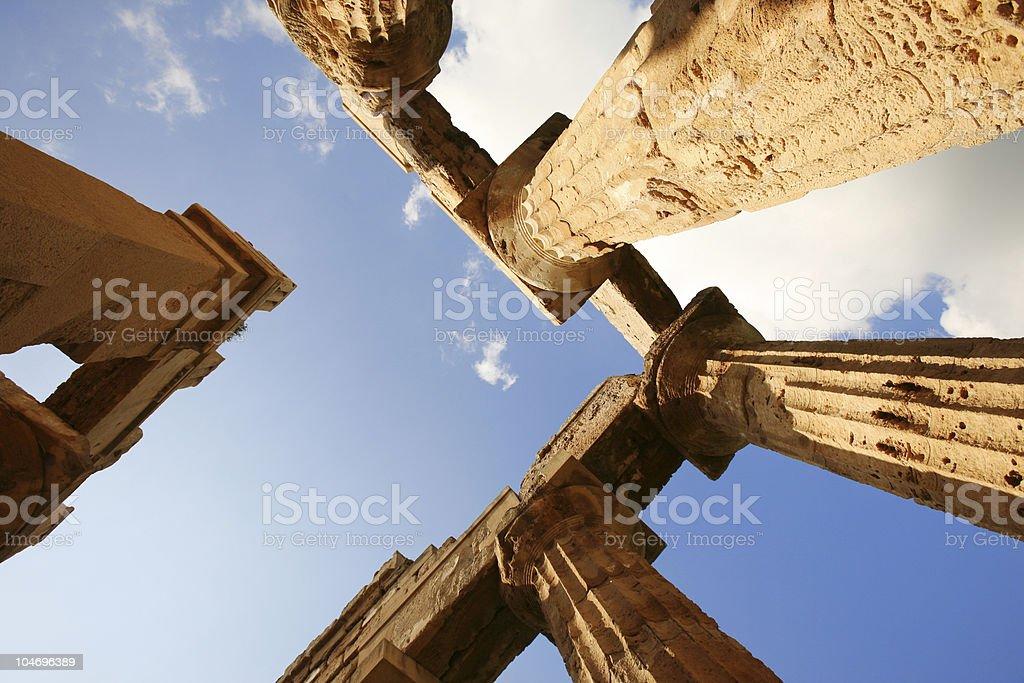 greek temple royalty-free stock photo