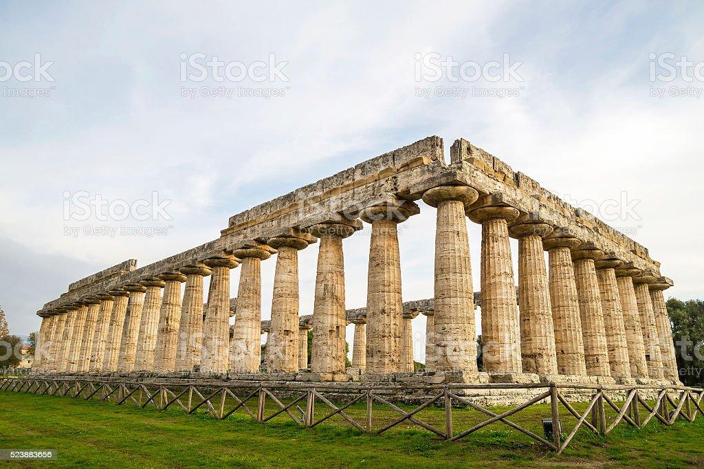 Greek Temples of Paestum - UNESCO World Heritage Site stock photo