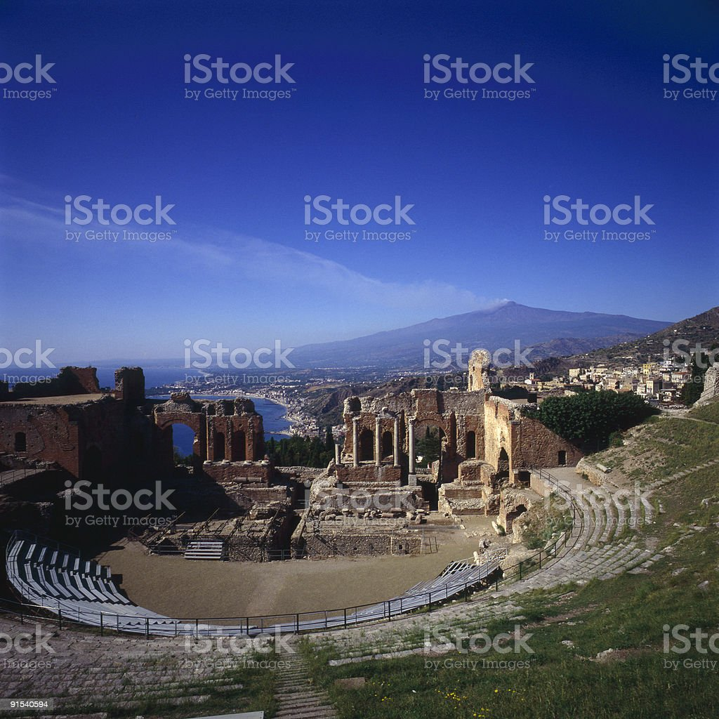 Greek Theater royalty-free stock photo