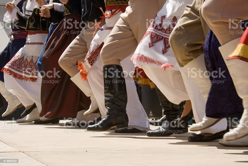 Greek traditional dancing stock photo