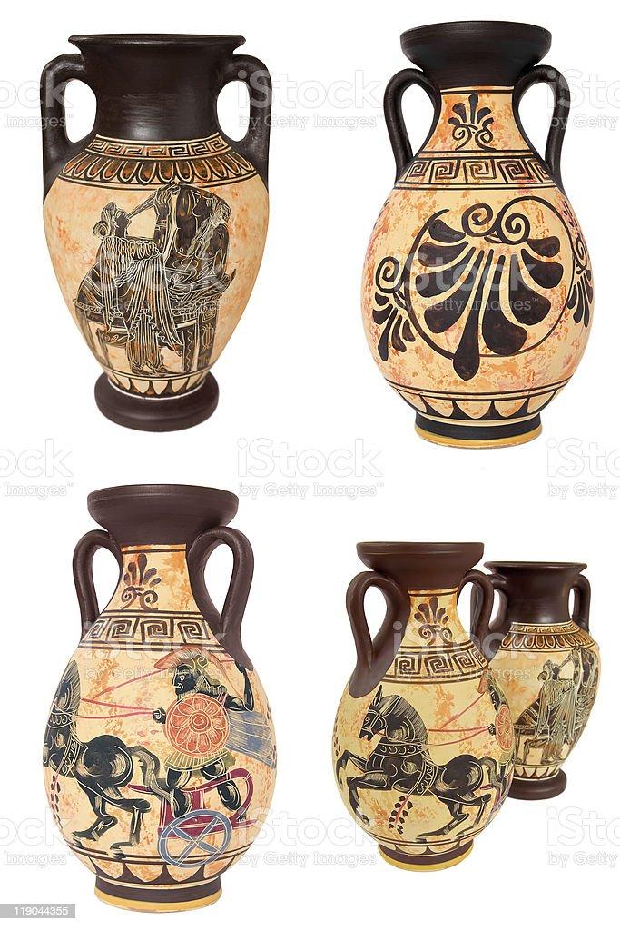 Greek Vases Collage stock photo