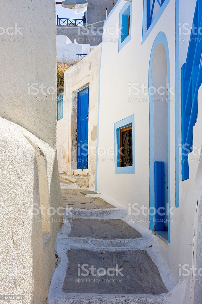 greek village alley royalty-free stock photo