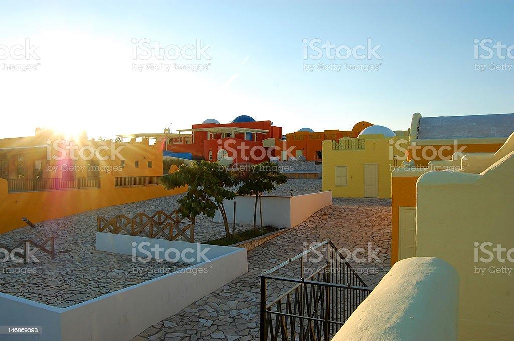 Greek village center royalty-free stock photo