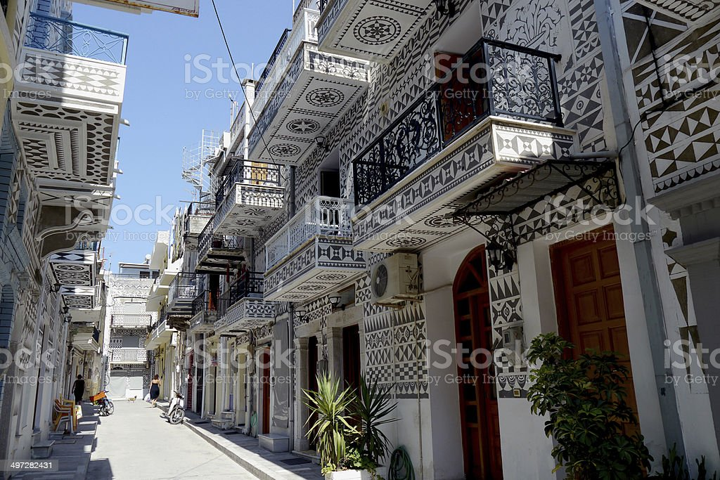 greek village of pyrgi, on chios stock photo