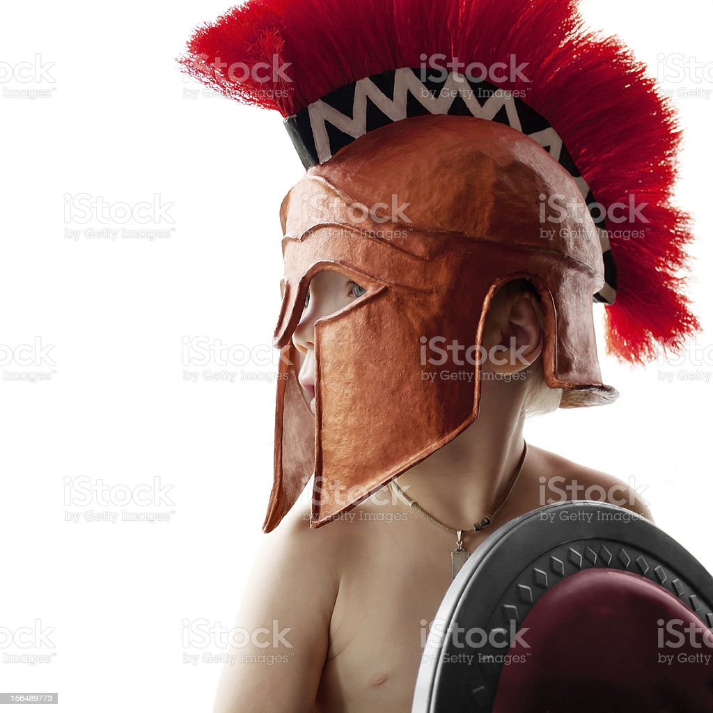 Greek warrior royalty-free stock photo