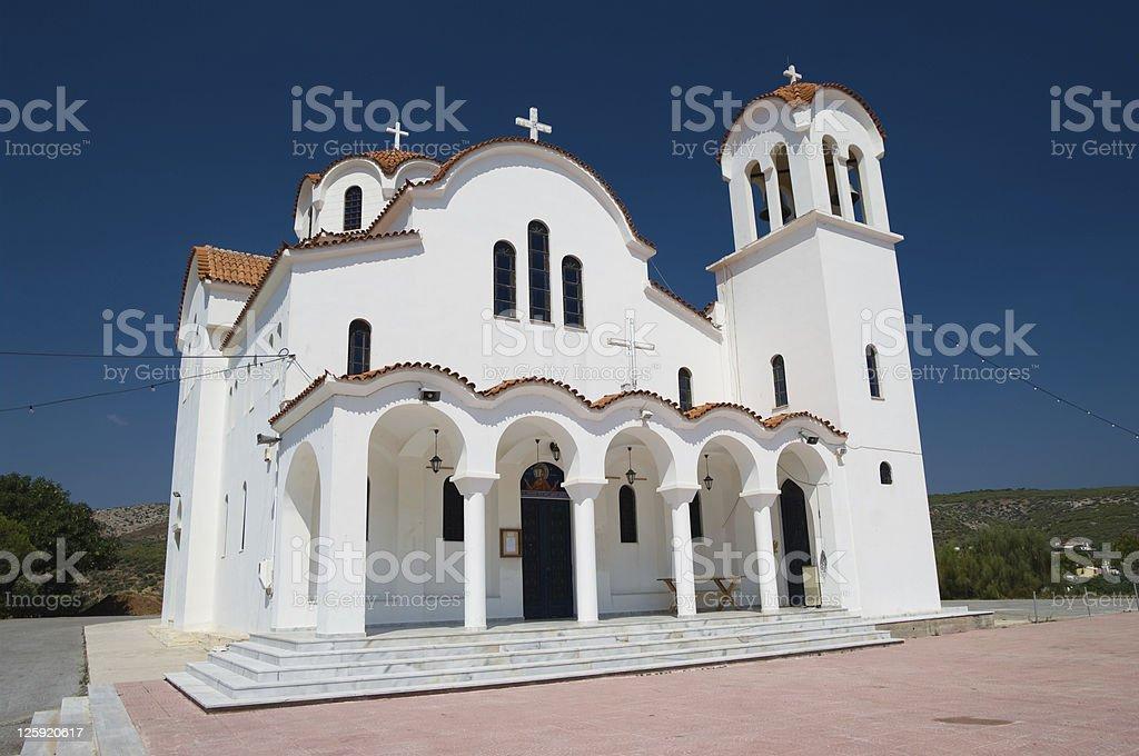 Greek White Church stock photo
