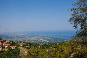 greek wonderful mountain village landscape