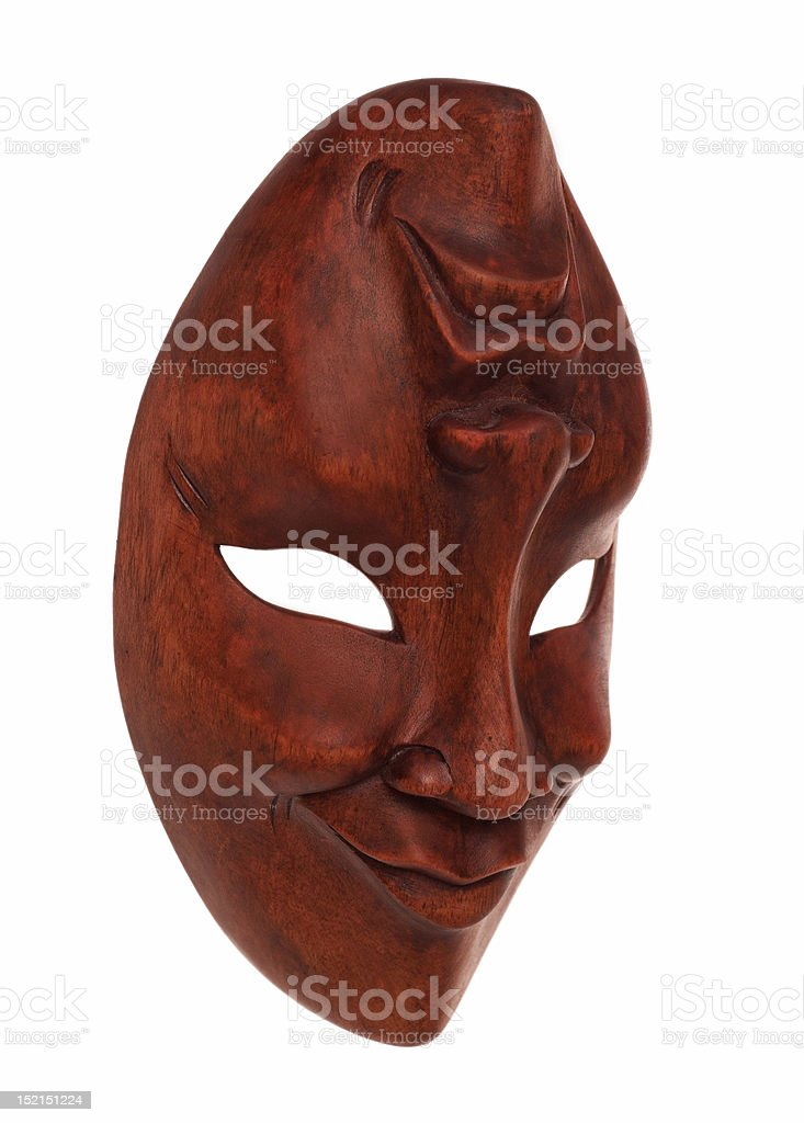 Greek wooden mask stock photo
