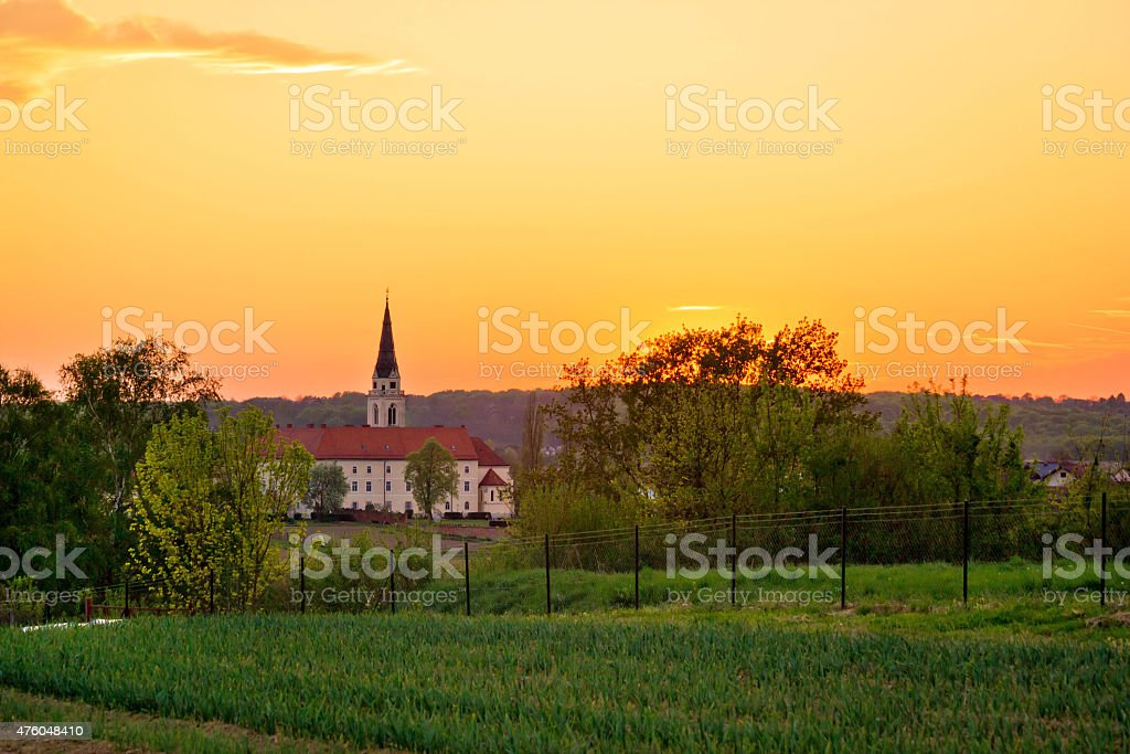 Greek-catholic cathedral in Krizevci stock photo