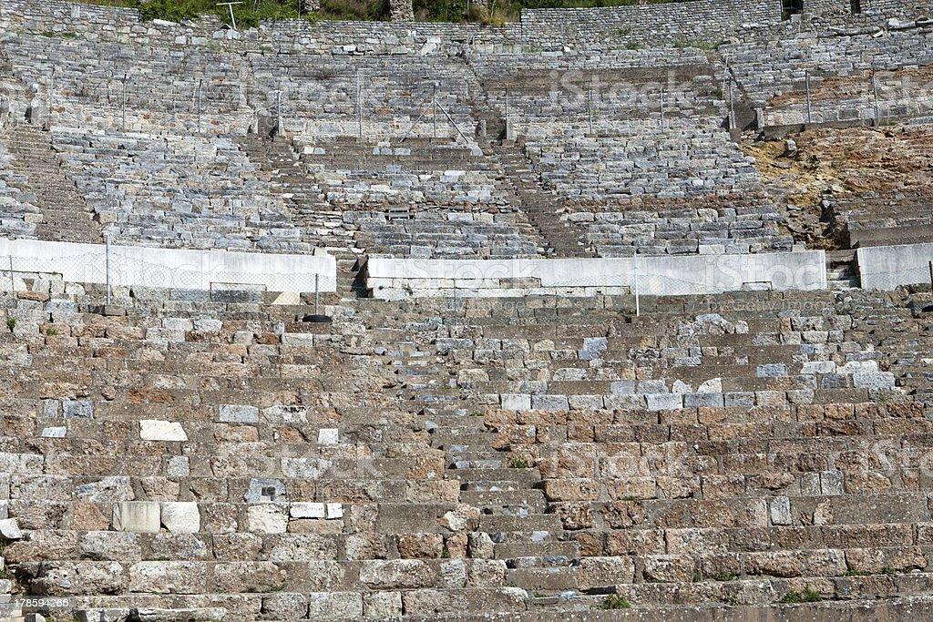 Greek-Roman amphitheater stock photo
