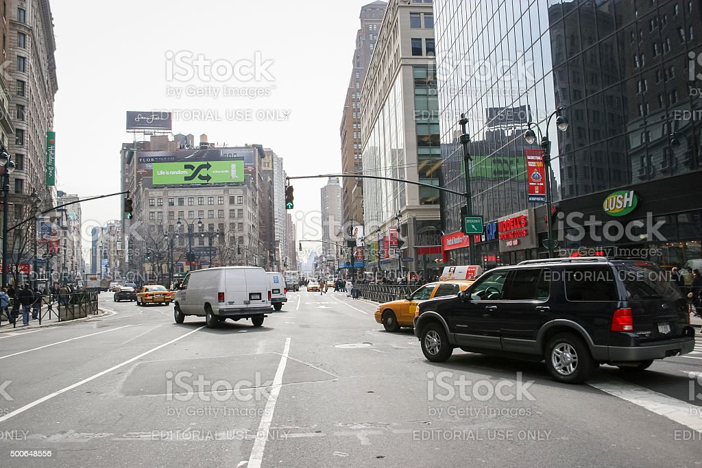 Greeley Square in Manhattan stock photo