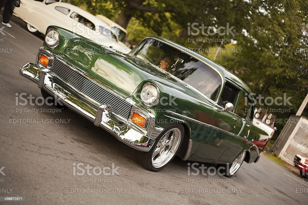 Green 1956 Chevrolet Bel Air stock photo