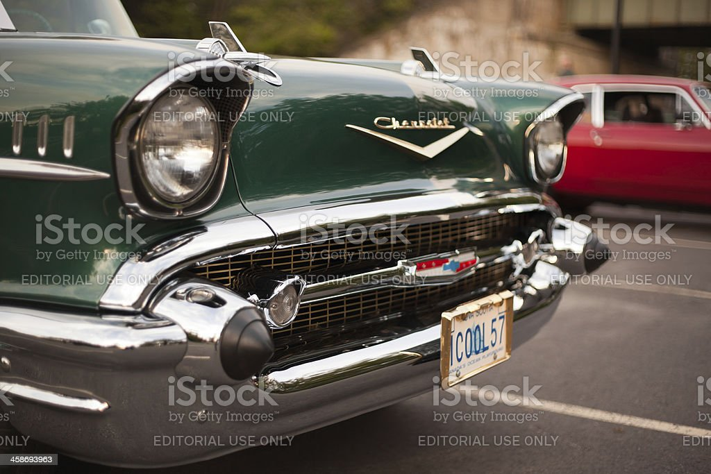 Green 1957 Chevrolet Bel Air stock photo