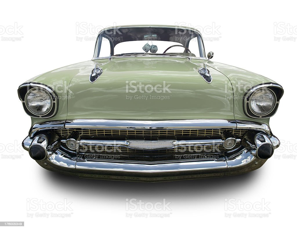 Green 1957 Chevy royalty-free stock photo