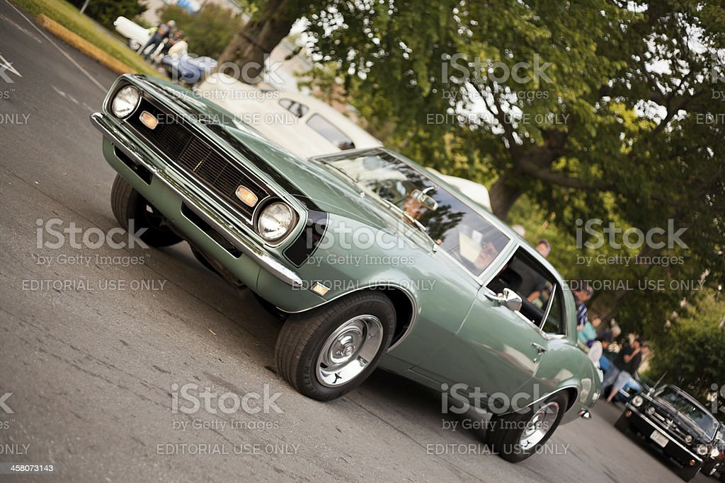 Green 1968 Chevrolet Camaro stock photo