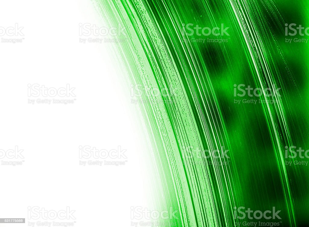 green abstract structure with white copy space stock photo