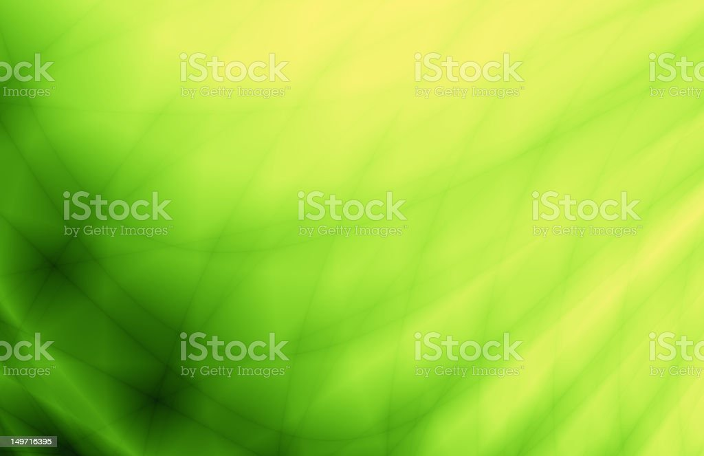 Green abstract wave card background stock photo
