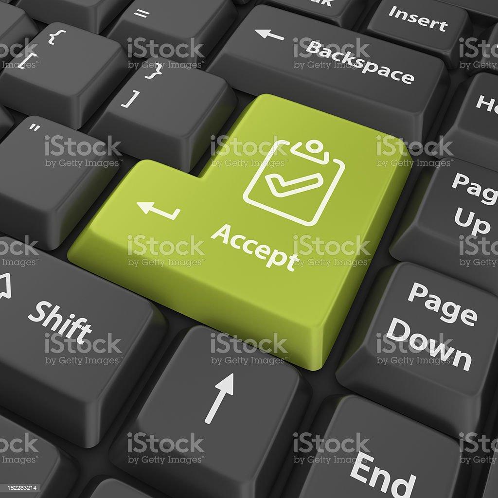 green accept enter button royalty-free stock photo