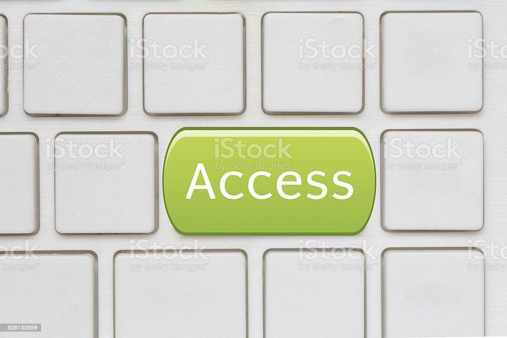 Green access enter key and keys icon stock photo