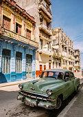 Green American in Havana