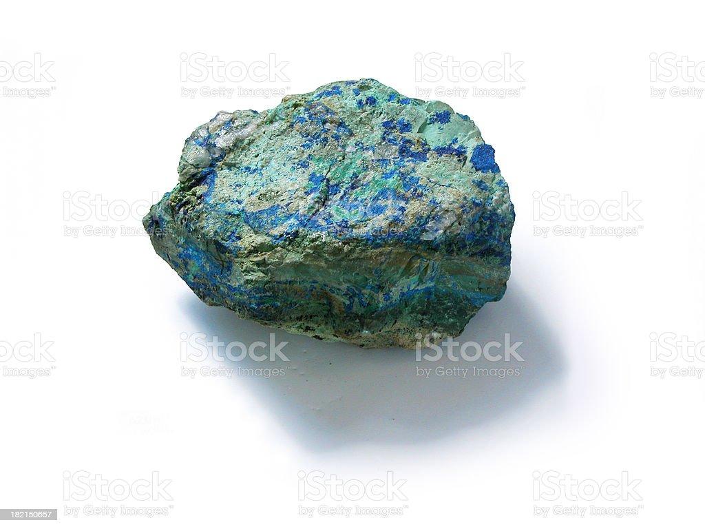 Green and Blue Malachite and Azurite, Copper Mineral Specimen stock photo