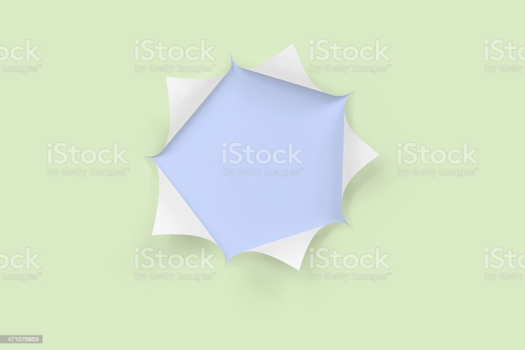 Green and Blue Paper Reveal royalty-free stock photo