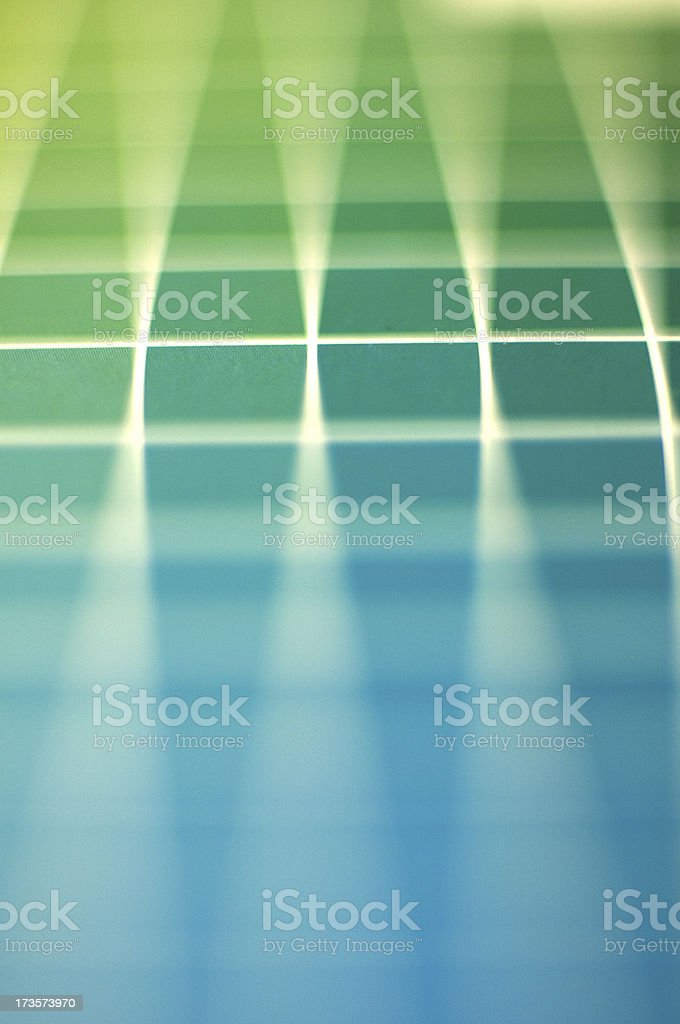 green and blue spectrum stock photo