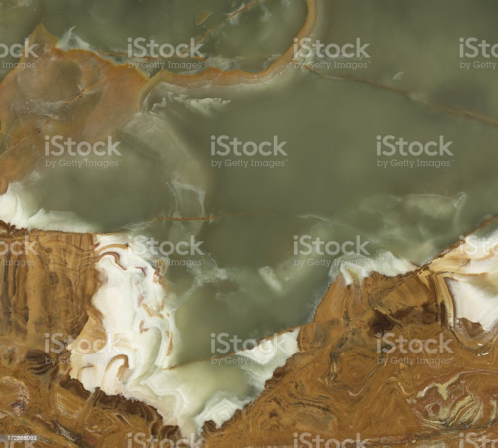 green and brown onyx stock photo