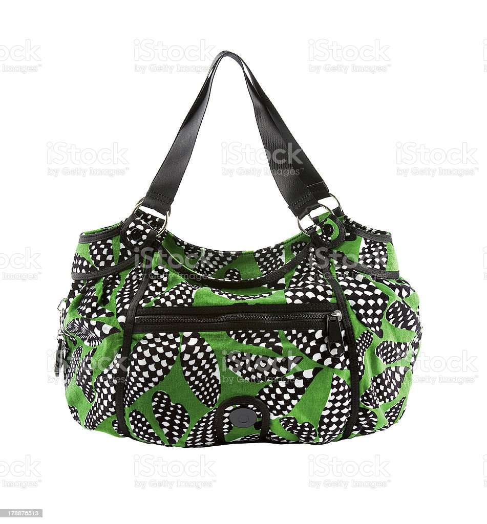 Green and op art zipped tote stock photo